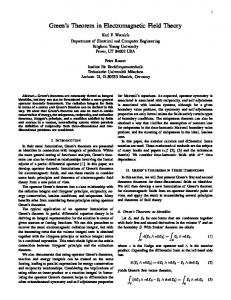 Green's Theorem in Electromagnetic Field Theory