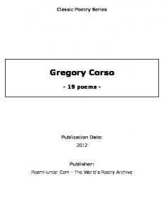 Gregory Corso - poems - - PoemHunter.Com