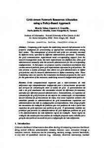 Grid-Aware Network Resources Allocation using a ... - Semantic Scholar