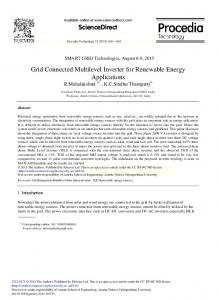 Grid Connected Multilevel Inverter for Renewable Energy ... - Core