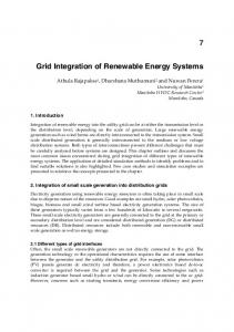 Grid Integration of Renewable Energy Systems