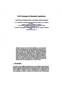 Grid Technology for Biomedical Applications