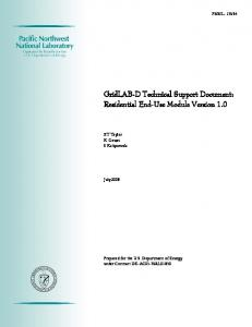 GridLAB-D Technical Support Document: Residential End-Use ...