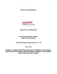 griffith university griffith law school - SSRN papers