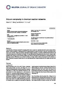 Grip on complexity in chemical reaction networks - Beilstein Journal