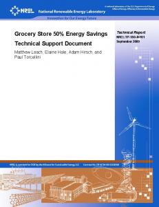 Grocery Store 50% Energy Savings Technical Support ... - NREL