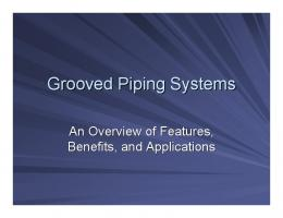 Grooved Piping Systems