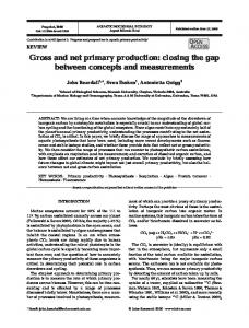 Gross and net primary production: closing the gap ... - Inter Research