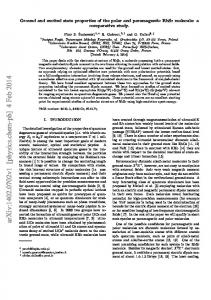 Ground and excited state properties of the polar and paramagnetic ...