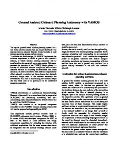 Ground Assisted Onboard Planning Autonomy with VAMOS - ESA