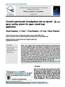Ground experimental investigations into an ejected spray ... - Core