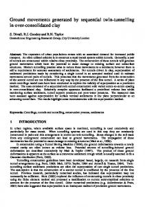 Ground movements generated by sequential twin-tunnelling in over ...