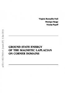 ground state energy of the magnetic laplacian on corner domains - arXiv