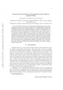 Ground state factorization of heterogeneous spin models in magnetic ...
