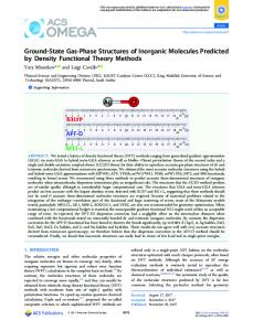 Ground-State Gas-Phase Structures of Inorganic ... - ACS Publications