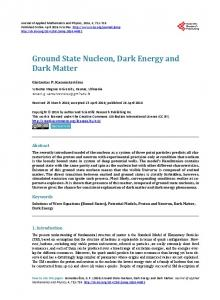 Ground State Nucleon, Dark Energy and Dark Matter - Scientific ...