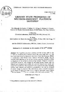GROUND STATE PROPERTIES OF