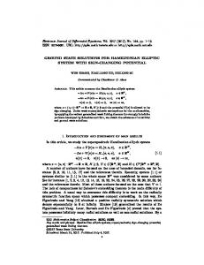 GROUND STATE SOLUTIONS FOR HAMILTONIAN ELLIPTIC ...