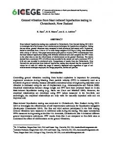 Ground vibration from blast-induced liquefaction testing in ...