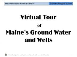 Ground water and wells (PDF 1.6MB) - Maine.gov