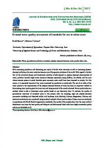 Ground water quality assessment of Iranshahr for use in urban areas