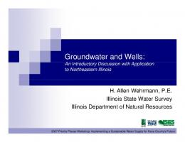 Groundwater and Wells - Illinois State Water Survey