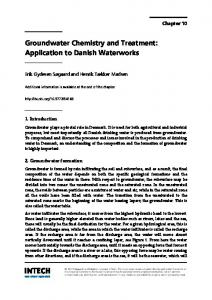 Groundwater Chemistry and Treatment: Application to ... - InTechOpen
