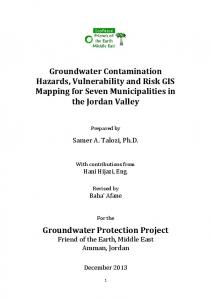 Groundwater Contamination Hazards, Vulnerability ...