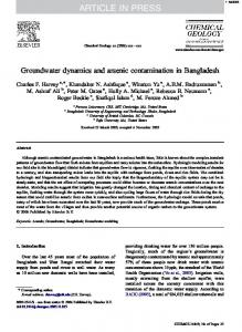 Groundwater dynamics and arsenic contamination in Bangladesh