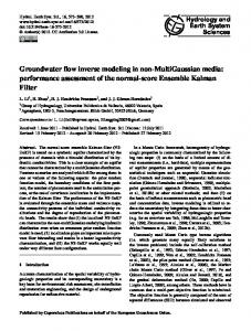 Groundwater flow inverse modeling in non-MultiGaussian media ...