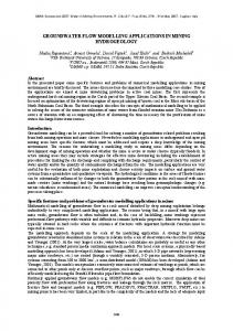 groundwater flow modelling applications in mining ... - CiteSeerX