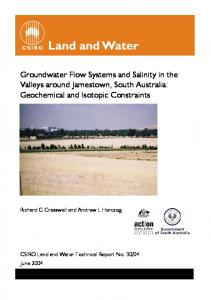 Groundwater Flow Systems and Salinity in the ... - Land and Water