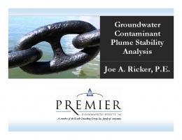 Groundwater Groundwater Contaminant Plume Stability Plume ...