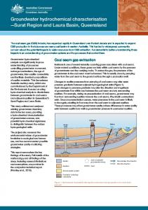 Groundwater hydrochemical characterisation—Surat Regio and Laura ...