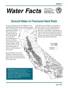 Groundwater in Fractured Rock - California Department of Water ...