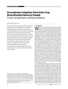 Groundwater Irrigation-Electricity-Crop ... - India Water Portal