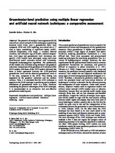Groundwater-level prediction using multiple linear regression and ...