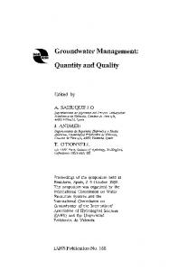 Groundwater Management: Quantity and Quality
