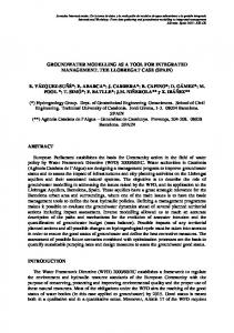 groundwater modelling as a tool for integrated management. the ...