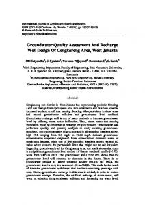 Groundwater Quality Assessment And Recharge Well ...