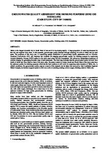 groundwater quality assessment for drinking ... - ISPRS Archives