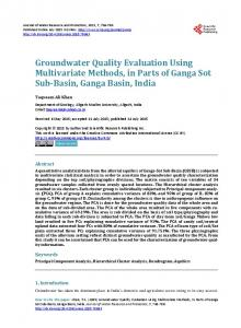 Groundwater Quality Evaluation Using Multivariate ... - Semantic Scholar
