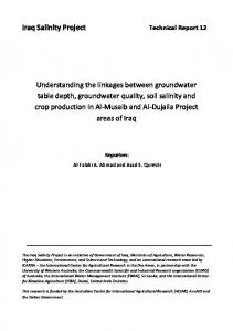 Groundwater, Soil salinity, and Crop production - ICARDA Corporate ...