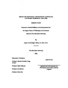 GROUP AND INDIVIDUAL MICROCREDIT CONTRACTS: A