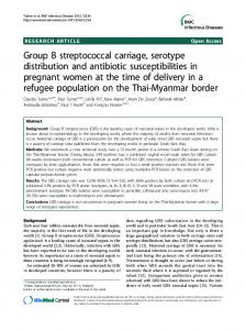 Group B streptococcal carriage, serotype distribution ... - BioMedSearch
