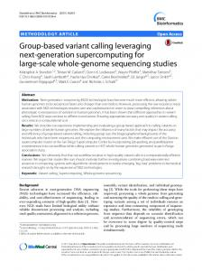 Group-based variant calling leveraging next-generation ...