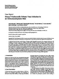 Group D Salmonella Urinary Tract Infection in an Immunocompetent ...
