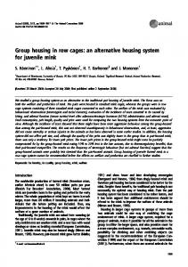 Group housing in row cages: an alternative housing system for