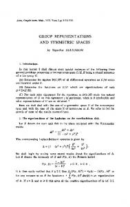 Group representations and symmetric spaces. - MIT Mathematics