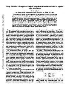 Group theoretical description of artificial magnetic metamaterials ...